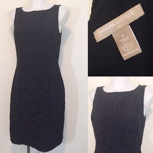 Banana Republic Deep Navy Lace Fitted Dress 6